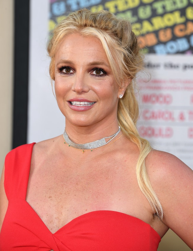 """Britney Spears arrives at the Sony Pictures' """"Once Upon A Time...In Hollywood"""" Los Angeles Premiere on July 22, 2019 in Hollywood, California."""