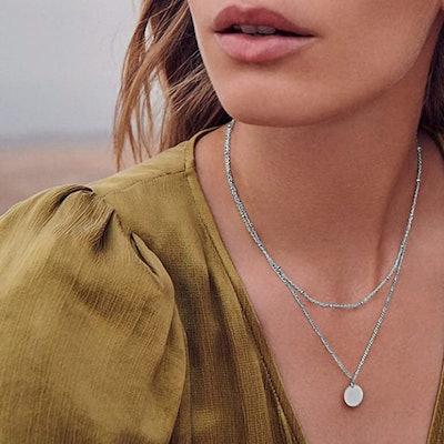 Fettero Layered Disc Necklace