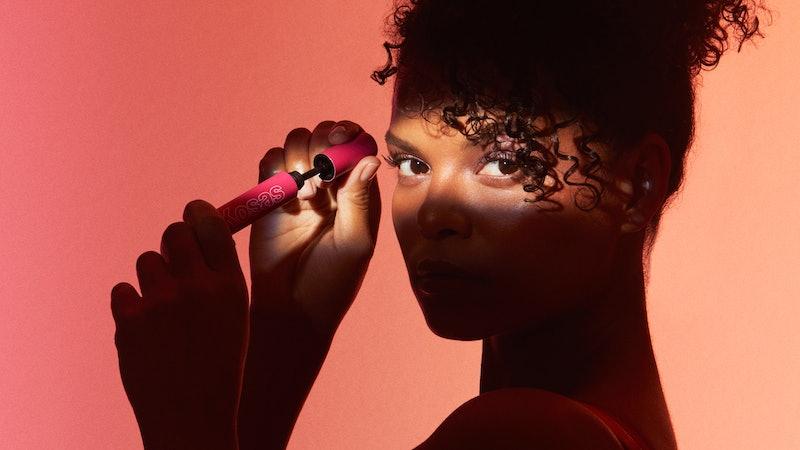 Kosas' new The Big Clean Mascara on model.