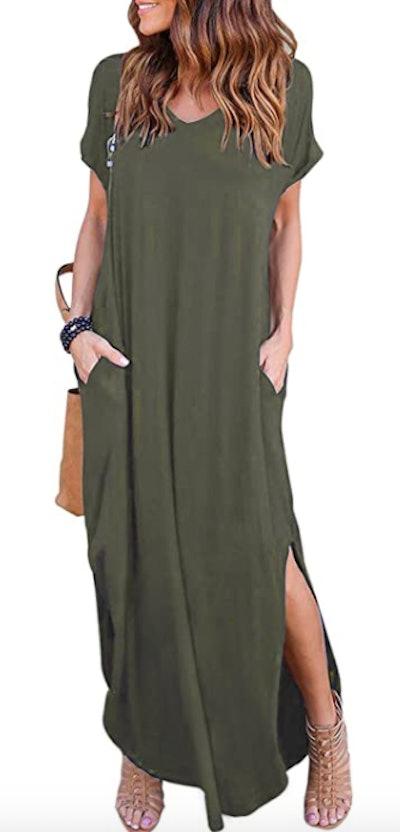 HUSKARY Women's Summer Maxi Dress