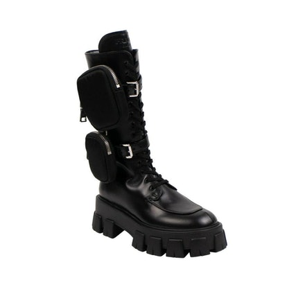 'MONOLITH' CHUNKY KNEE BOOTS SHOES