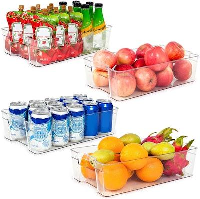 Vtopmart Refrigerator Organizer Bins (4-Pack)