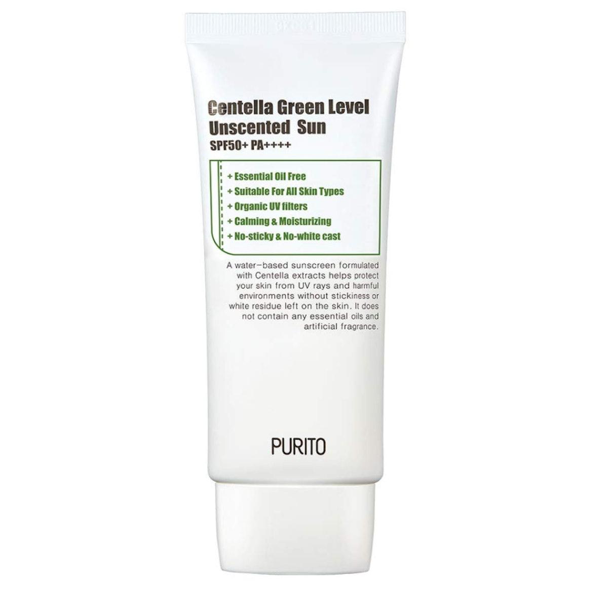 Centella Green Level Unscented Sun SPF50
