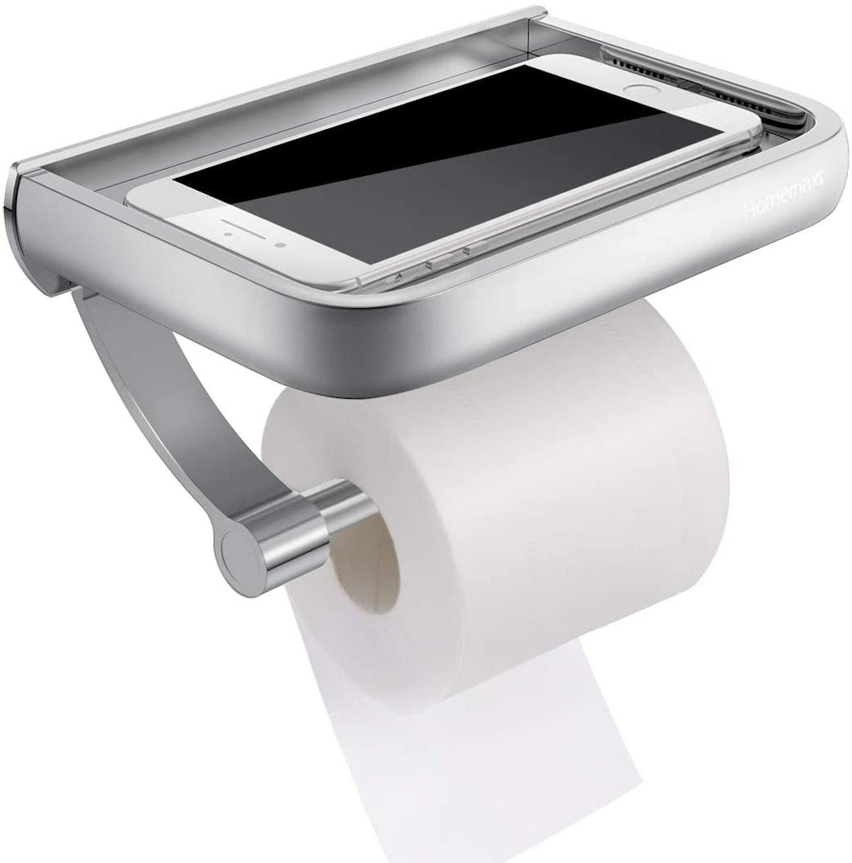 Homemaxs Toilet Paper Holder with Shelf