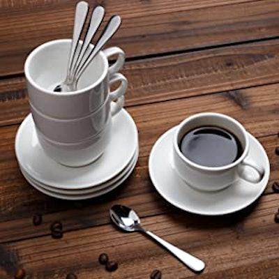 Aozita Espresso Cups and Saucers (12-Pack)