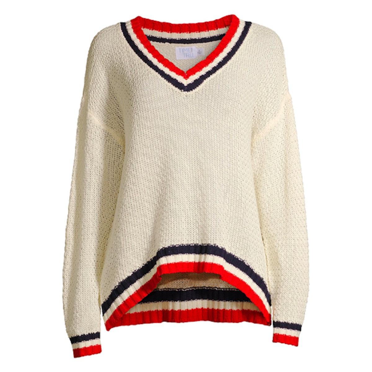 V-Neck Varsity Sweater