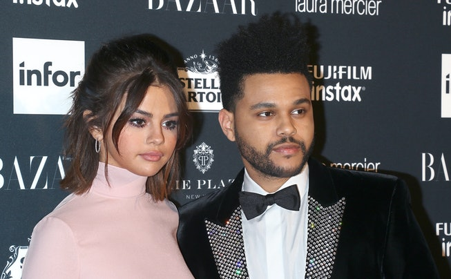 Singers Selena Gomez and The Weeknd attend the 2017 Harper's Bazaar Icons at The Plaza Hotel on September 8, 2017 in New York City.