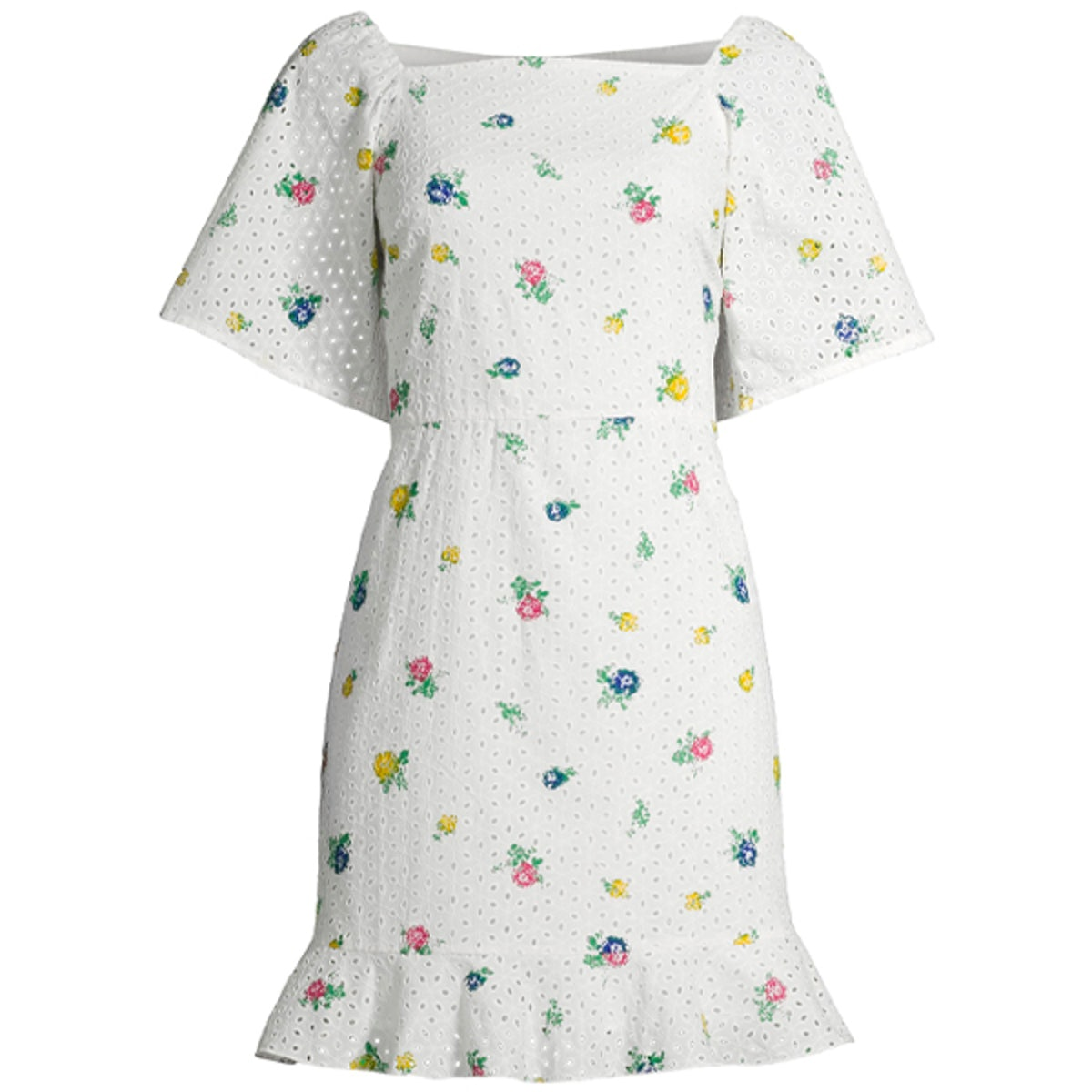 Printed Eyelet Dress