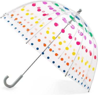 Totes Kid's Clear Bubble Umbrella with Easy Grip Handle