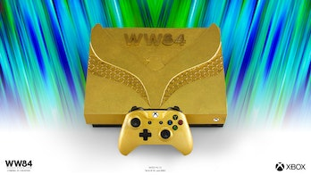 A golden Xbox One X.