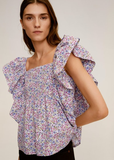 RUFFLES FLORAL TOP