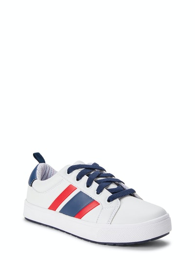 Wonder Nation Little & Big Boys Striped Casual Court Shoes