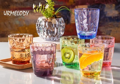 Urmelody Acrylic Drinking Glasses (6-Pack)