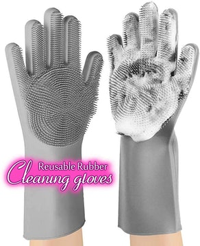 anzoee Reusable Silicone Dishwashing Gloves