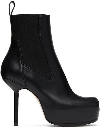 Black Spike Heel Beatle Boots