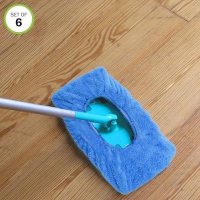 Evelots Reusable Mop Pads (6 pack)