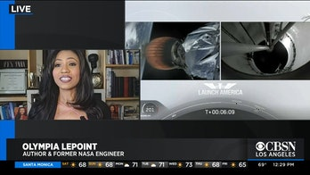 LePoint during a segment for CBSN Los Angeles from her living room.