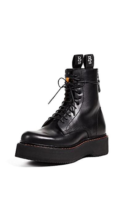 Platform Combat Boots