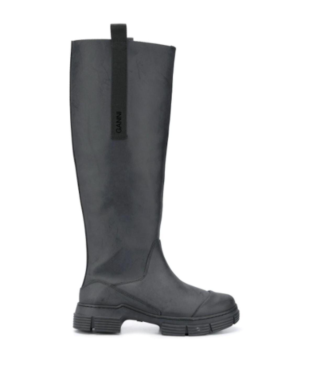 Rubber Calf-Length Boots
