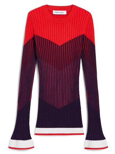 LONG SLEEVE RIB KNIT CREWNECK
