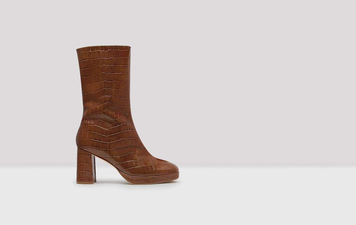 Carlota Clay Croc Leather Boots