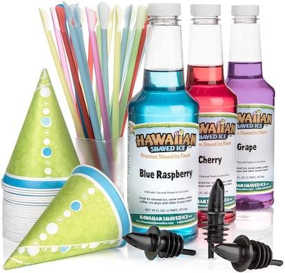 Hawaiian Shaved Ice Syrup & Accessories