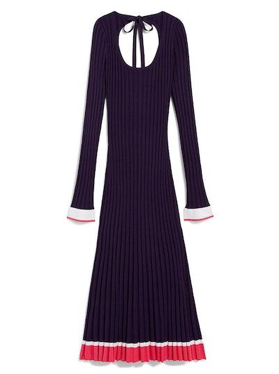 SCOOP NECK RIB KNIT DRESS