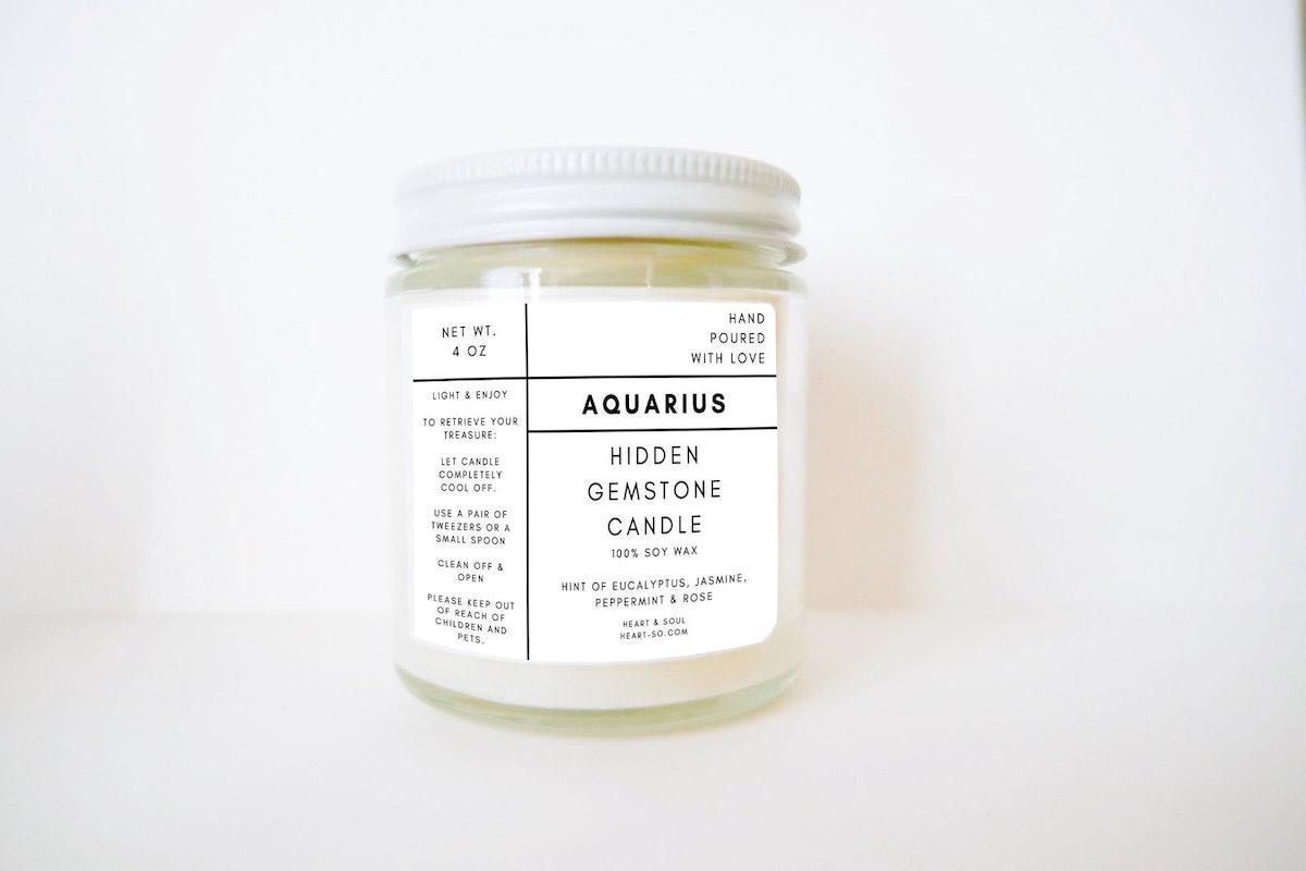 Hidden Gemstone Soy Wax Candle