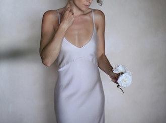 CREAM MODAL SLIP DRESS