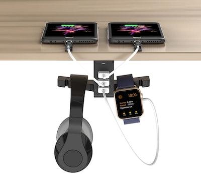 coozoo Headphone Stand with USB Port