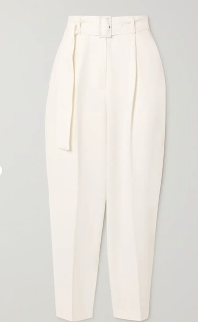 Elvira belted woven pants
