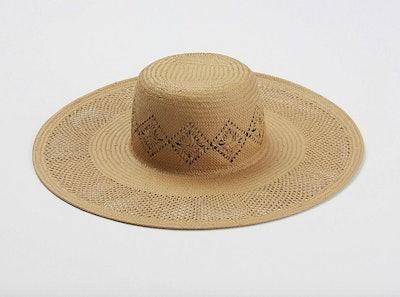 Cut Out Straw Floppy Hat