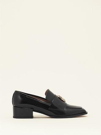 Nono Loafer in black brushed calfskin