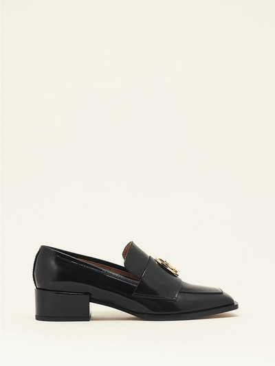Nono Loafer in black brushed calfskin