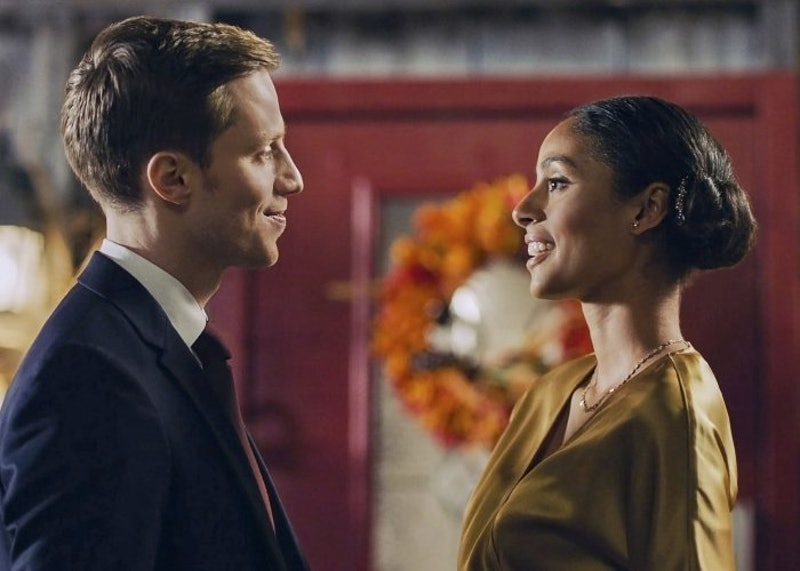 "Clark Backo and Jonathan Keltz in ""Love at Look Lodge"" (via Hallmark Channel website)"