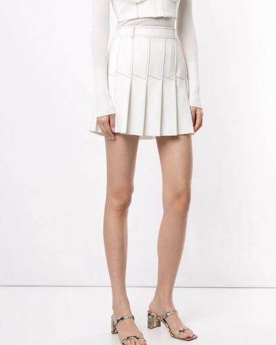 Column Pleat Mini skirt