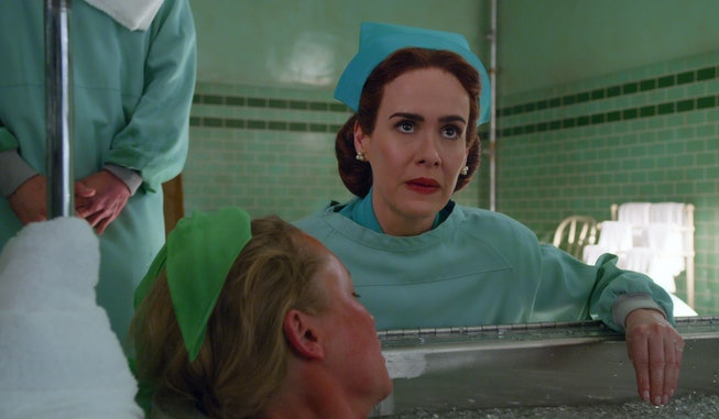 RATCHED (L to R) SARAH PAULSON as MILDRED RATCHED in episode 103 of RATCHED