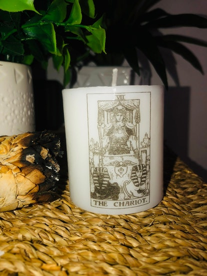 The Chariot Tarot Cancer Candle