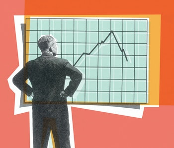 Man standing in front of a chart.
