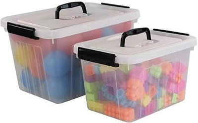 Obston 12 Quart & 6 Quart Plastic Latching Box With Handles