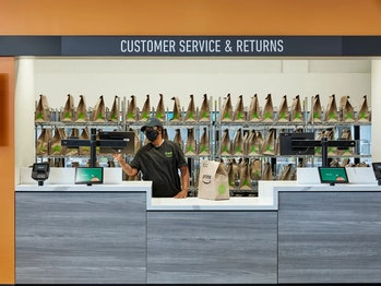 Amazon Fresh-branded grocery stores will offer store pickup and returns.