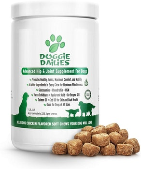 Doggie Dailies Advanced Hip And Joint Supplement For Dogs (225 Soft Chews)