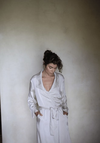 Cream Modal Robe