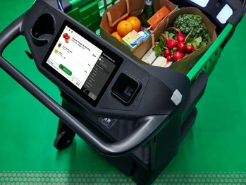Amazon Dash grocery carts let customers skip the checkout lane.