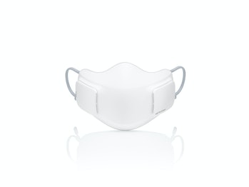 A front view of the air purifier mask.