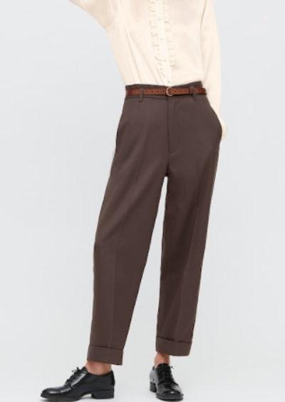 WOMEN WOOL-BLEND WIDE PANTS (INES DE LA FRESSANGE)