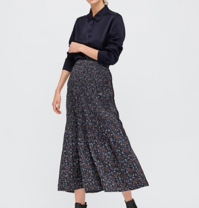 WOMEN TWIST-PLEATED LONG SKIRT (INES DE LA FRESSANGE)