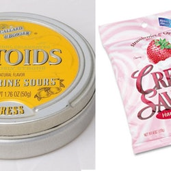 Altoid sours, lifesavers creme savers, and other nostalgic foods and snacks that have been discontinued.