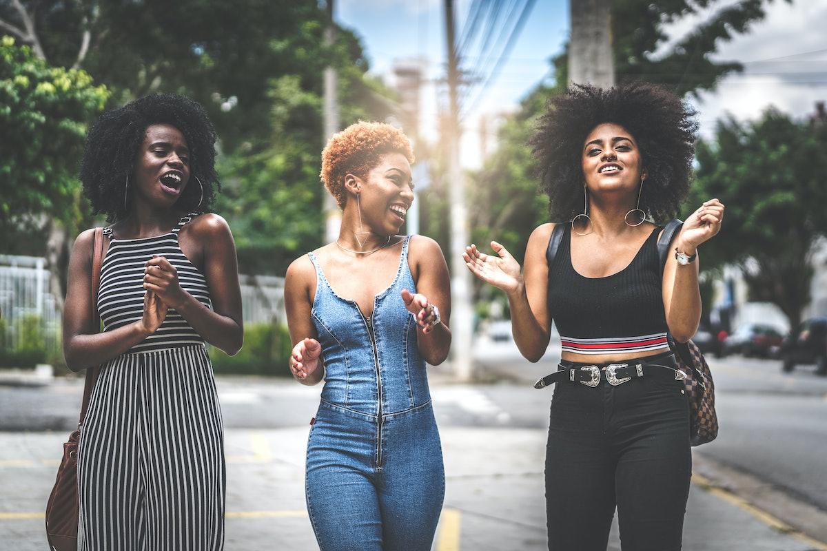 3 women laughing