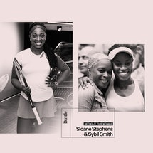 Sloane Stephens and her mother, Sybil Smith.